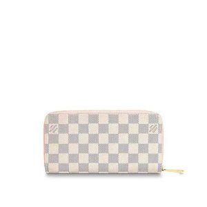 LV Zippy Wallet Damier Azur Rose Ballerine Bag